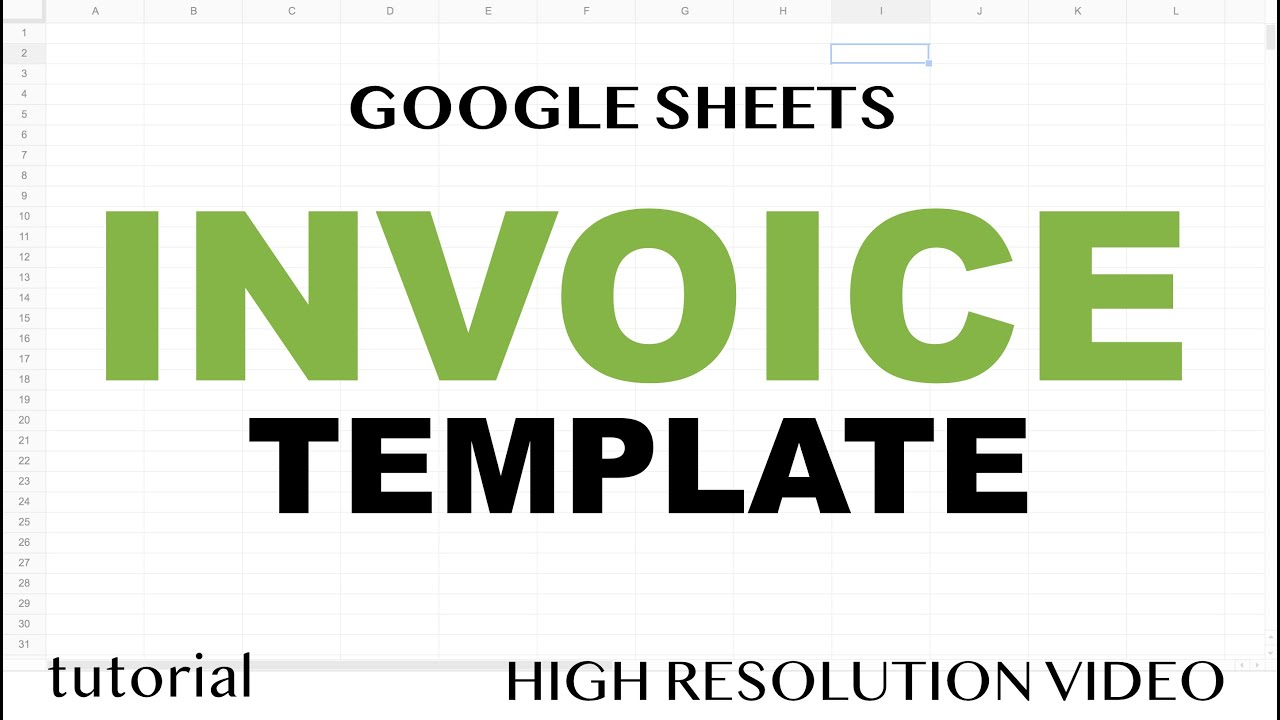 Google Sheets Invoice Template from i.ytimg.com