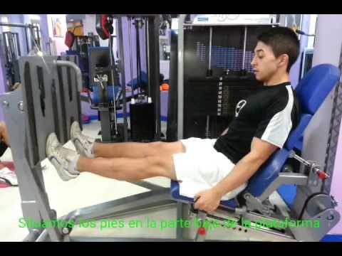 Horizontal prensa musculos piernas de