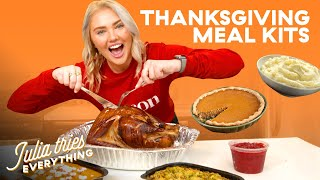 Julia Tries All Of The Most Popular Thanksgiving Delivery Meal Kits | Delish