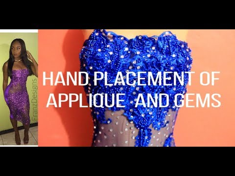 DIY: Applying Applique And Gems To Dress | DIYwithFranz | Jamaican Designer