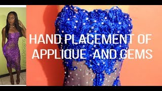 DIY: Applying Applique And Gems To Dress | DIYwithFranz | Jamaican Designer