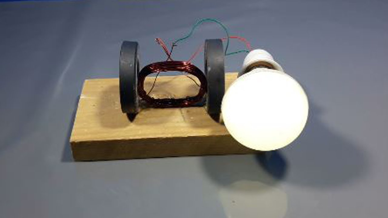 100% free energy electricity using magnet with light bulb ...
