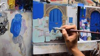 Pintar Un Cuadro Al óleo Paso A Paso Clase De Pintura 1 2 Youtube
