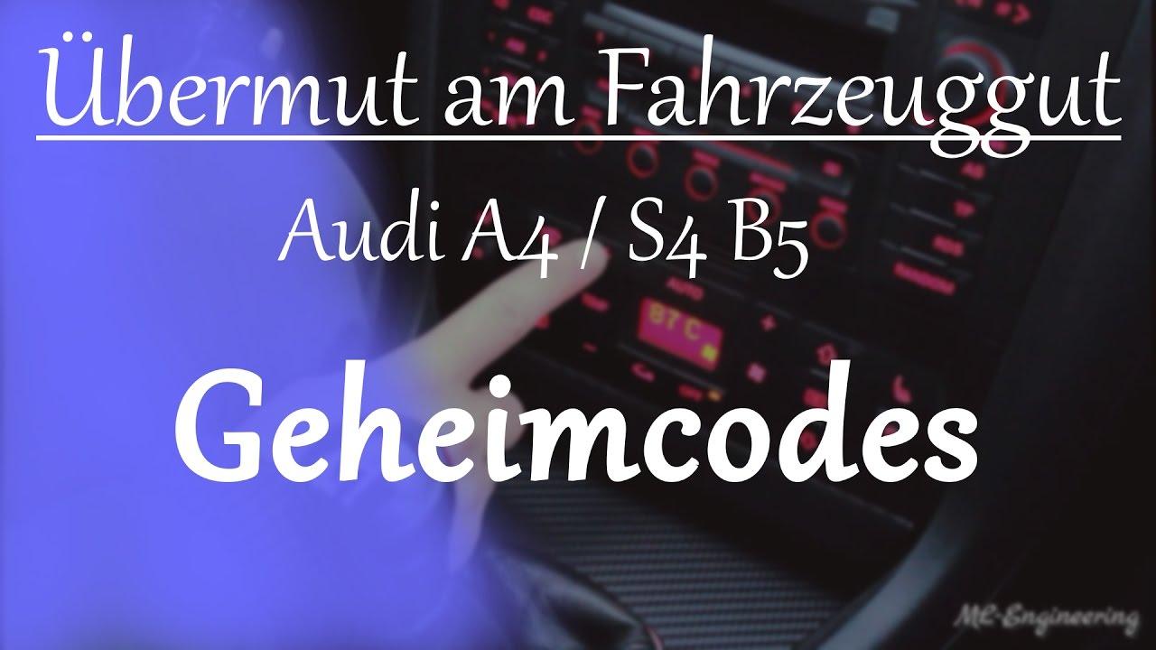 ML-Engineering | Audi A4/S4 B5 Geheimmenü Klimacodes Hidden Menue