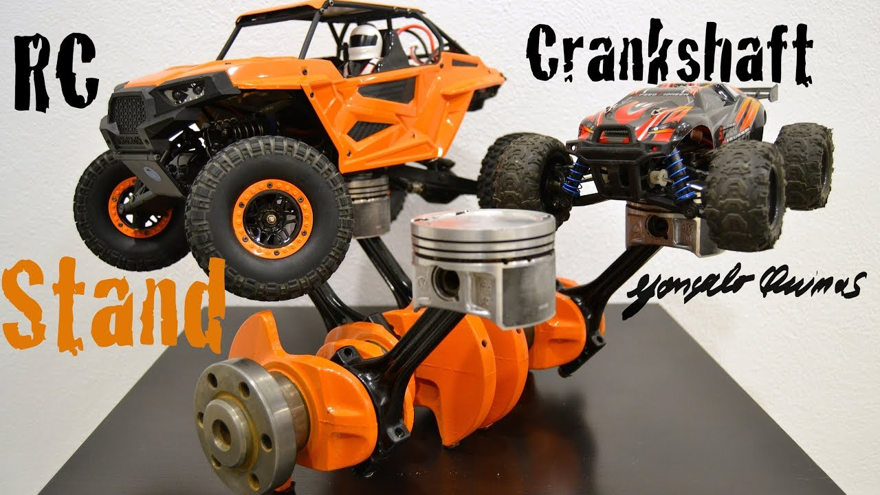 Diy Rc Car Stand From A Crankshaft And Pistons Youtube