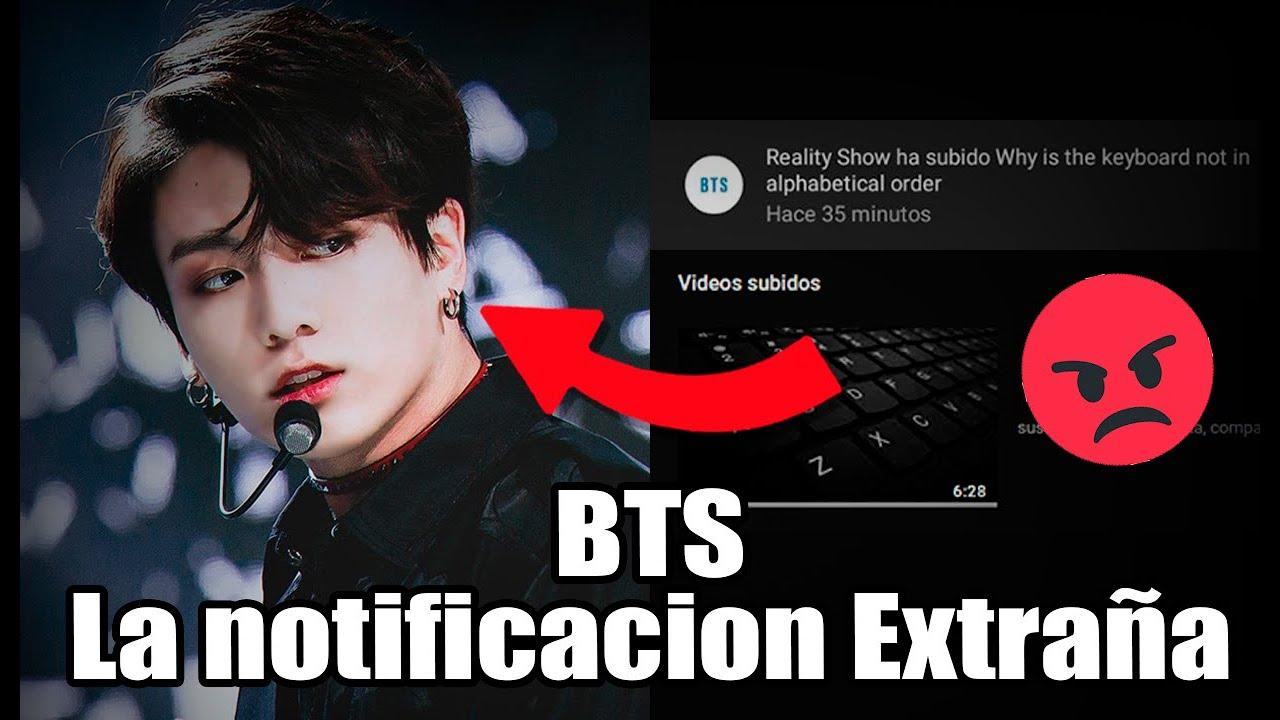 ALERTA! BTS fans LA NOTIFICACIÓN EXTRAÑA BANGTANTV!