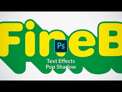 Text Effects of Pop Shadow in Photoshop thumbnail