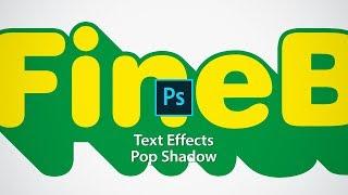 Photoshop Text Effect Tutorials of Pop Shadow
