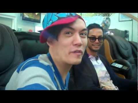 Manila Luzon, Jiggly Caliente & Raja at the nail salon.
