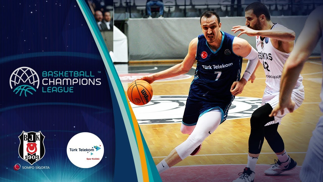 Besiktas Sompo Sigorta v Türk Telekom - Full Game - Round of 16 -Basketball Champions League 2019