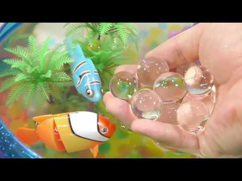 DIY How To Make Real Robotic Fish Orbeez Aquarium Toys | Kinder Surprise | Baa Baa Black S