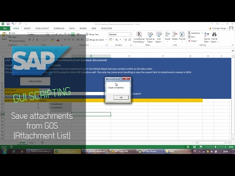 SAP GUI Scripting - Download attachments from GOS