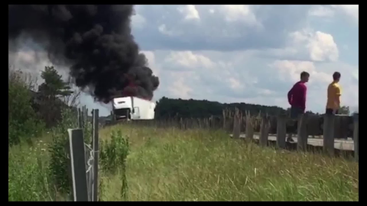 RAW Video: Accident on OH Turnpike backup up westbound