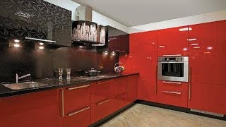 КРАСНО ЧЁРНАЯ КУХНЯ  Стильный Дизайн Кухни в Красно чёрном цвете