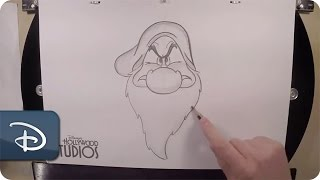 How to Draw Grumpy | Snow White and the Seven Dwarfs | Walt Disney World