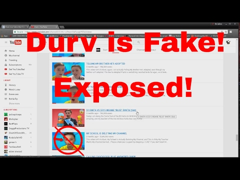 Exposing Durv's YouTube Channel