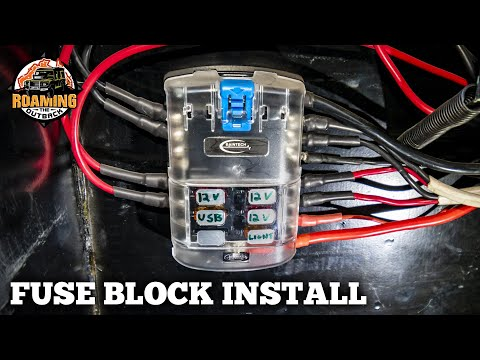 Accessory Fuse Block and Cable Install in a 4WD - How to add 12v accessories to your vehicle
