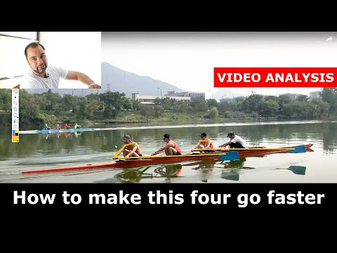 How To Make This Four Go Faster - Sweep Rowing Video Analysis