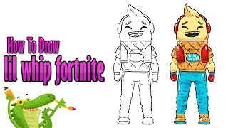 How To Draw and Coloring A cute Fortnite Lil Whip Skin easy step by step ~ for kids