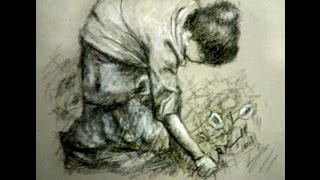 Gardener at the Balagio.Time Lapse Drawing Video Demo
