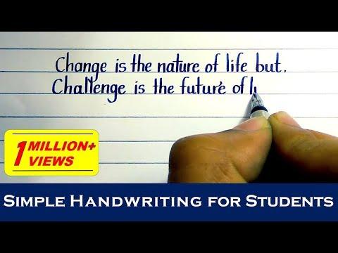 Simple english handwriting | Simple English handwriting styles | English Handwriting #10