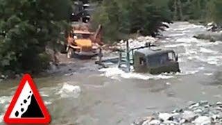 Бездорожье. Камазы проходят горный поток(, 2013-09-14T21:33:05.000Z)