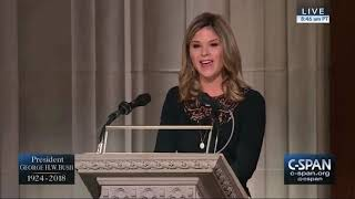Jenna Bush Hager gives a eulogy at George H.W. Bush's funeral