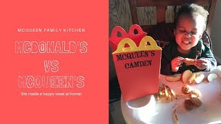 We Made Our Own McDonald&#39s  Homemade Happy Meals  McQueen&#39s not McDonald&#39s