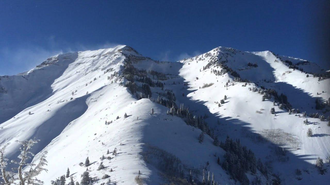 top of sundance ski resort in utah with a views of mount timpanogos