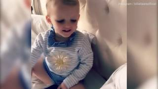 Billie Faiers shares cute video of Nelly and newborn baby Arthur