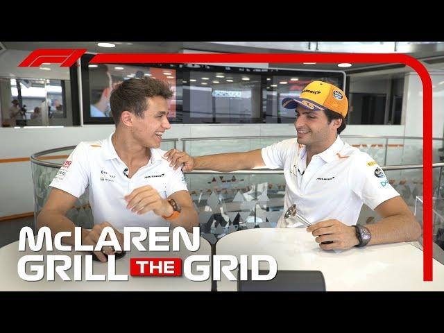 McLaren's Carlos Sainz and Lando Norris! | Grill The Grid 2019