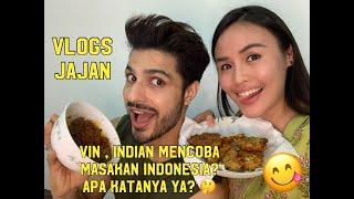 VlogsJajan  Vin Rana mencoba masakan Indonesia seperti apa yah reaksinya?