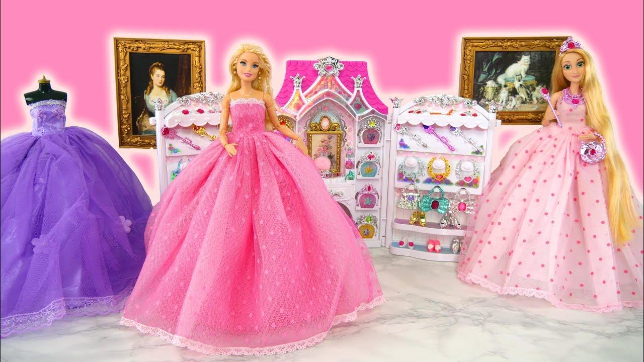 0d2c063f4c Princess dolls   Barbie dolls Birthday Party Dress Up! Princesa Vestido de  festa Gaun pesta boneka