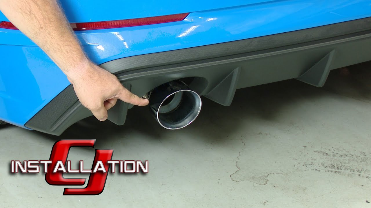 focus rs magnaflow cat back exhaust stainless steel 3 w 4 5 polished tips 2016 2018 installation