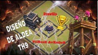 Diseño de aldea Th9 para proteger elixir oscuro Clash of clans / Town Hall 9 base farming CoC