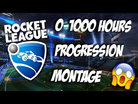 0-1000 Hour Rocket League Progression Montage