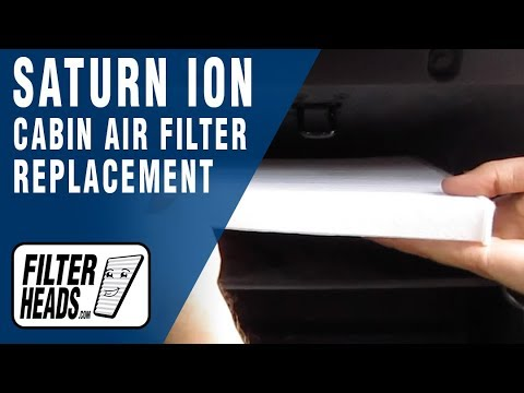 How to Replace Cabin Air Filter 2004 Saturn Ion