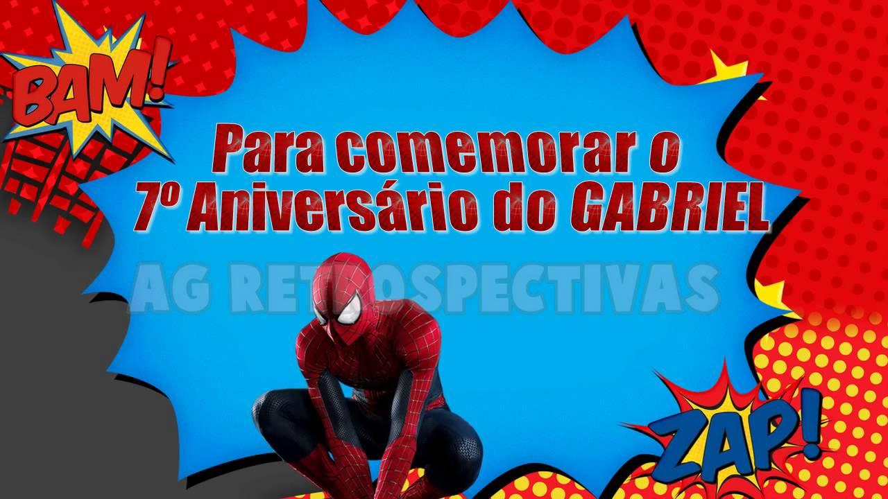 Convite Animado Homem Aranha Youtube