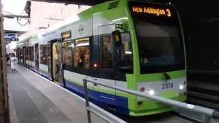トラムリンクCR4000形 ウィンブルドン駅発車 London Tramlink CR4000 Flexity Swift