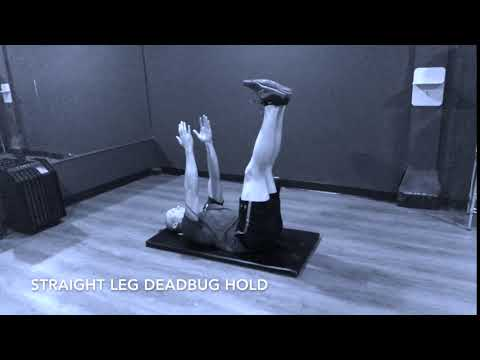 Straight Leg Deadbug Hold - Upside Strength Exercise Library