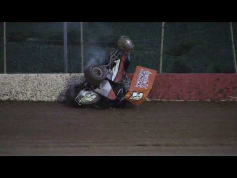 Trail-Way Speedway 358 Sprint Car Highlights 6-23-17