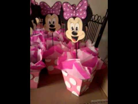 CENTROS DE MESA MINNIE MOUSE - YouTube