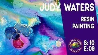 Wie erstellen Sie die bunten Harz-Malerei mit Judy Wasser ich Farbe In Ihr Leben
