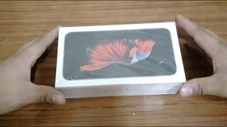 Apple iphone 6s plus space grey 32GB (Unboxing)