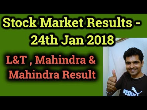 L&T Result | Stock Market Result & Stock Analysis - 24th Jan 2018