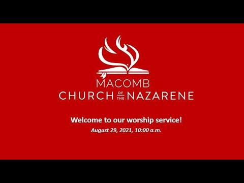 Sunday Morning Worship - August  29, 2021