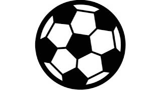 how to draw simple soccer ball/ football  step by step - simple drawing