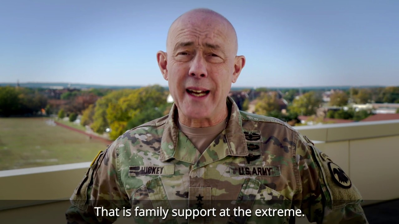 Lt. Gen. Charles D. Luckey discusses Army Reserve Family Programs and its importance in supporting our Soldiers and their Families.