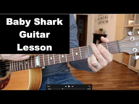 Baby Shark Guitar Lesson - How To Play - Tutorial