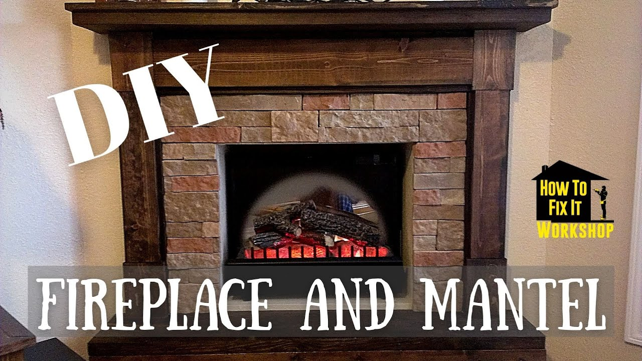Building a Fireplace Mantel from Scrap Wood - YouTube